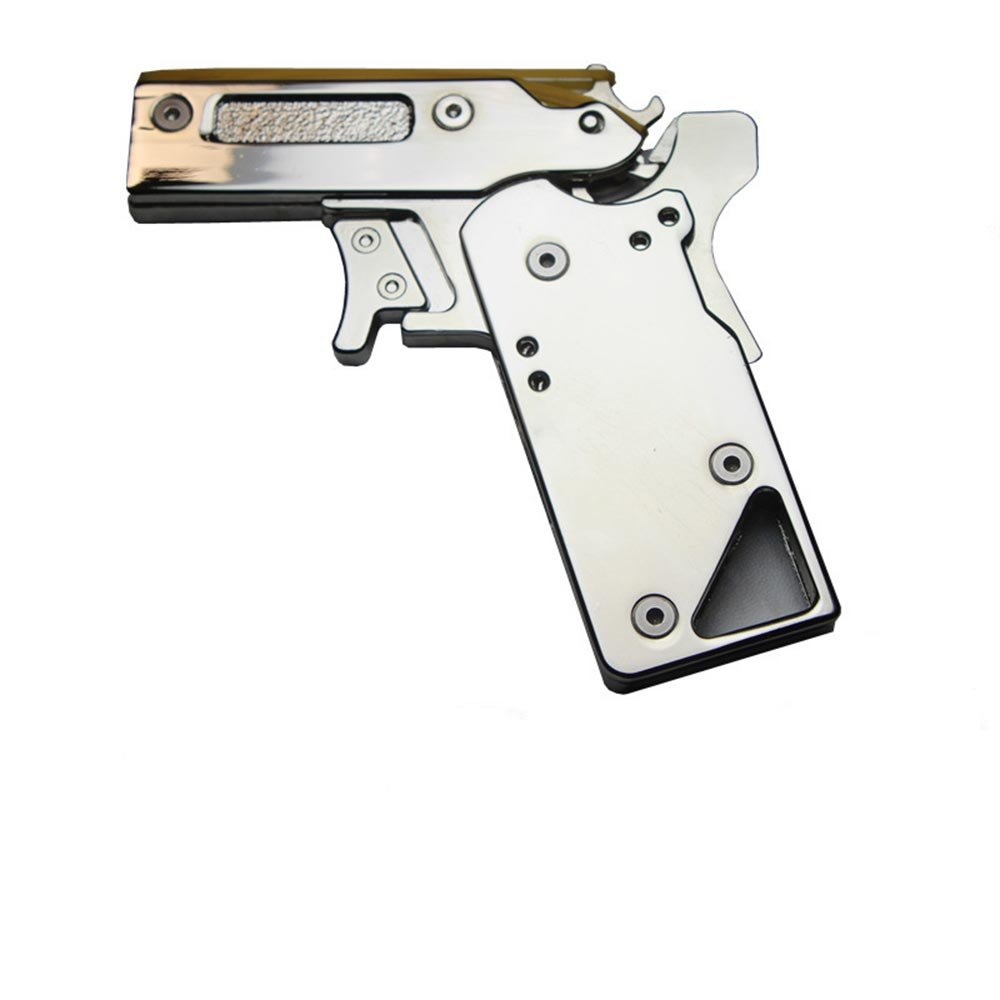 LIVIQILY Rubber Band Gun RBG Portable Semi-Automatic Toy Repeater Pistol with Gift Box Packaging
