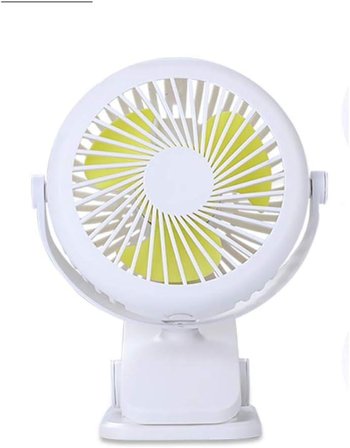 A ++ Ajuste de rotación de 720 ° Ventilador pequeño, Carga USB portátil Libro de Oficina Ventilador de Escritorio, Carro de bebé Tipo de Clip Ventilador de Aire Acondicionado silencioso