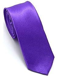Turtletop Apparel- Solid Colour Men's Necktie Tie (various colours available) (Dark Purple)