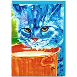 Rainbow Card Company Caustic Cats Birthday Card - Chumley