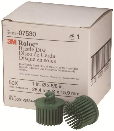 3M 07530 Roloc Bristle Disc, Green
