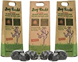 Dog Rocks - 100% Natural Grass Burn Prevention - Prevents Lawn Urine Stains - Three Small Bags - 6 Month Supply