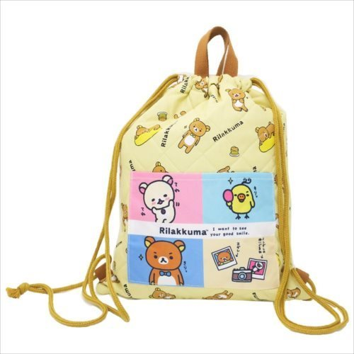 1e119b6bf23e Amazon.com  BLY Rilakkuma Quilt knapsack Beige K-9019 B  Clothing