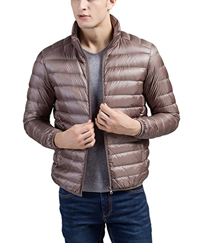 Warm Men's Packable Jacket Coat Collar Lightweight XXXL Puffa Padded Jacket Down Standing Panegy Camel tqUHd5wU