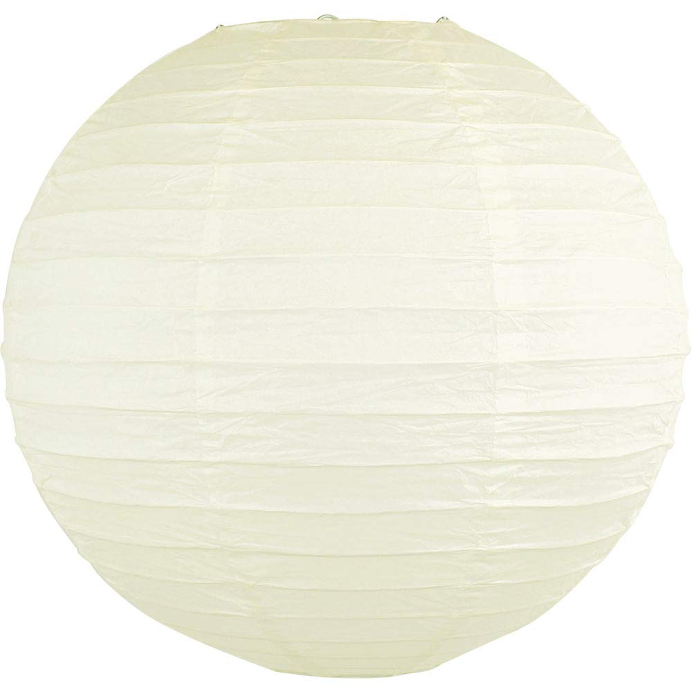 Just Artifacts 20'' Ivory Chinese/Japanese Paper Lantern/Lamp 20'' Diameter - Just Artifacts Brand