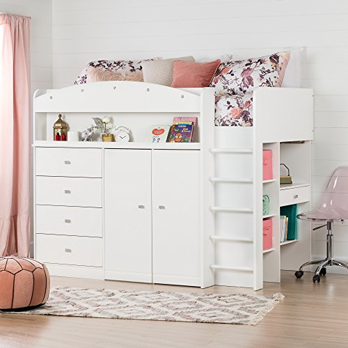 South Shore 10523 Tiara Loft Bed with Desk Twin