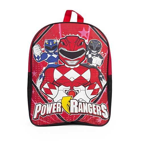 Sabans Power Rangers 15Inch Kids Backpack With Reflective Prism Printing