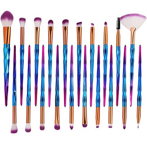 20 Pcs Makeup Brush Set Cosmetic Professional Shining Make Up Brushes Eye Shadow Blush Lip Brush set