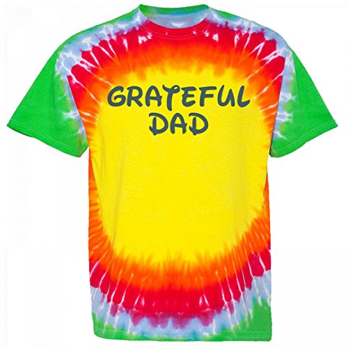 Bullseye Tie Dye (Customized Girl Grateful Dad: Unisex Gildan Bullseye Tie-Dye T-Shirt)
