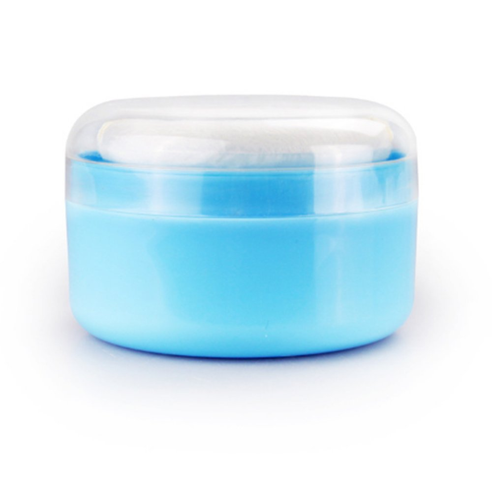 Lucky Will Travel Portable Baby Talcum Powder Puff with Box Case Container Soft Face Body Cosmetic Powder Puff