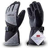 RIVMOUNT Winter Ski Gloves for Men Women,3M Thinsulate Keep...