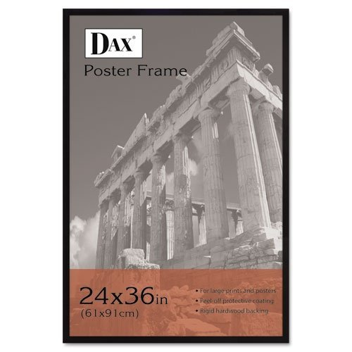 DAX 286036X Flat Face Wood Poster Frame with Plexiglas Window, 24 x 36 Inches, Black by DAX