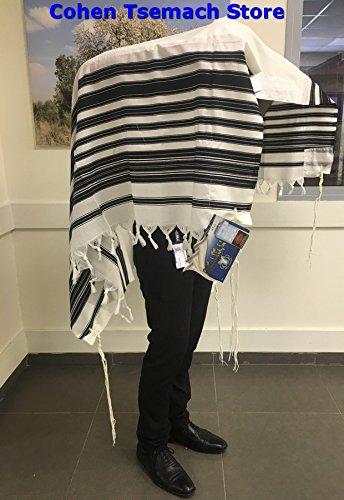 100% Wool Tallit Prayer Shawl Model CHABAD Size 46'' L X 67'' W 50-H by Talitania (Image #3)
