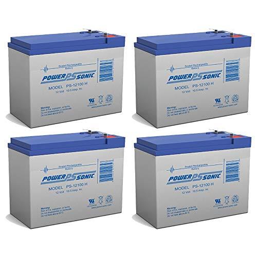 (Powersonic 12V 10.5AH SLA Battery for Tusa SAV-7 Underwater Scooter - 4 Pack)