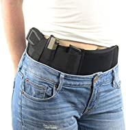 Belly Band Holster for Concealed Carry, FOUUA Elastic Neoprene Inside Waistband Holster with Hand Gun Holder f