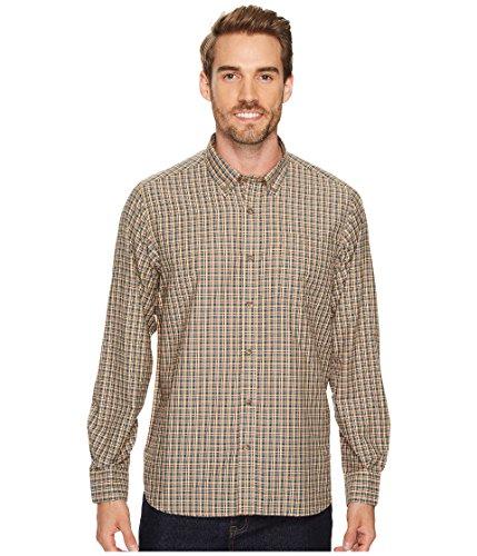 Retro Khaki Shirts (Mountain Khakis Men's Spalding Gingham Long Sleeve Shirt, Retro Khaki, Large)