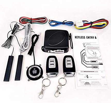 Smart PKE Passive Keyless Entry Car Alarm System Starter Push Button Remote Kit