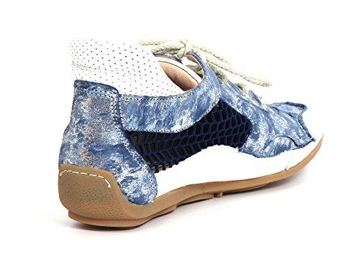 Softwaves kombi blau 4 kombi Donna Stringate Blau Scarpe 69 Blu 57 Nuvink SYqwPSrT