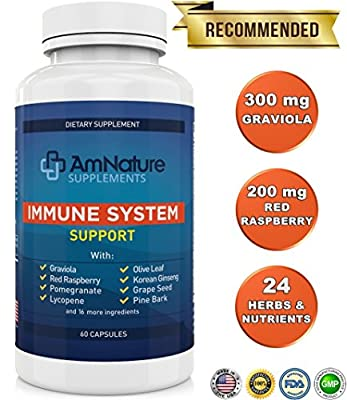 Immune System Support - Superb Blend of over 20 Antioxidans, Herbs and other Nutrients Formulated to Support and Enhance the Body's Immune System, 60 Capsules, 100% Satisfaction Guarantee!