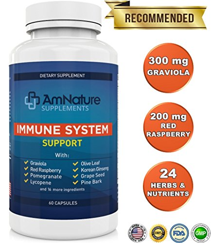 Immune System Support - Immune System Booster with Vitamins, Herbs, Antioxidants and Other Nutrients Needed for Immune Defense - Boost Your Immune System Naturally, 100% Satisfaction Guarantee 60 Caps - Boost Immune System