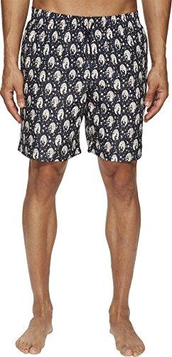 (Dolce & Gabbana Men's Mid Length Geisha Swimsuit Boxer w/Bag Blue Geisha Print 4)