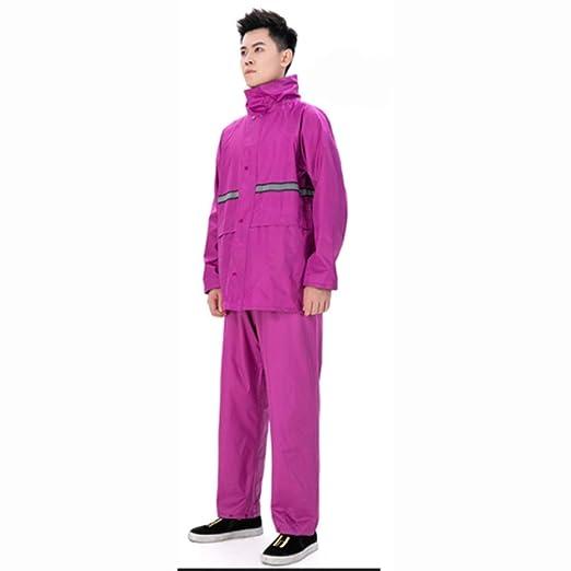 YueOutdoor Impermeable de Camuflaje Pantalón de Lluvia Traje ...