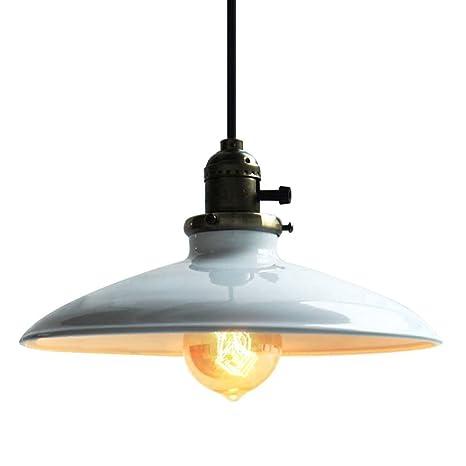 Glighone Lámpara Colgante Vintage Lámpara de Techo Retro Lámpara Industrial Lámpara de Comedor Iluminación E27 Sin Bombilla Luz de Metal para ...