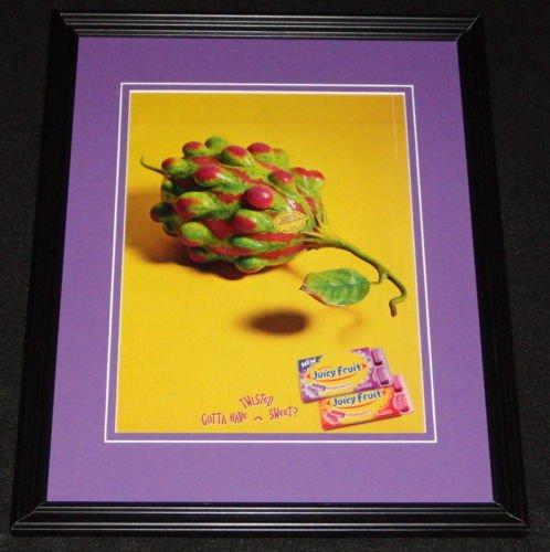 2003-juicy-fruit-grapermelon-gum-framed-11x14-original-vintage-advertisement