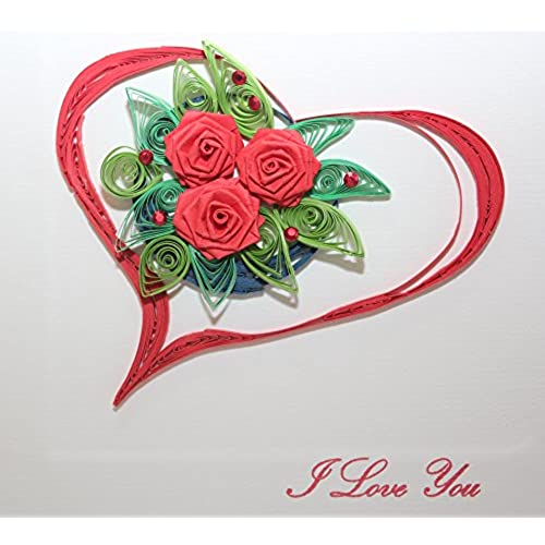Handmade Quilling card : LOVE & VALENTINE CARD Sales