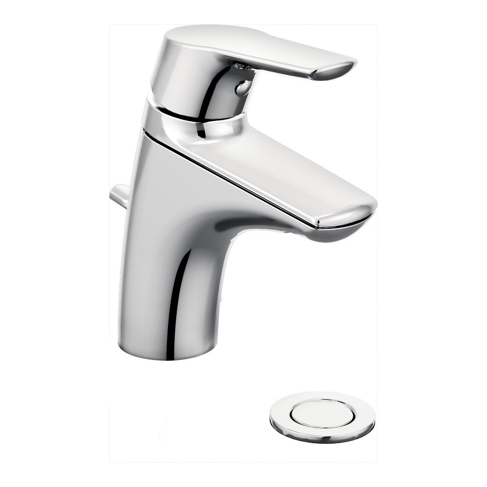Moen 6810 Method One-Handle Low Arc Bathroom Faucet, Chrome