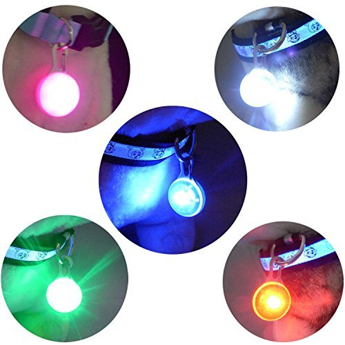 Carlie 5Pcs/Pack Clip on Dog Collar LED Lights Charms - Safety LED Lights for Dogs and Cats by Carlie