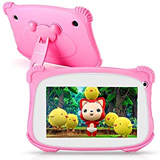 """Kids Tablet, ASIUR QuadCore 2GB RAM 16GB ROM Android 9 Kids Educational Tablets Learning Tablets for Toddlers with Parental Control & 7"""" HD Screen"""