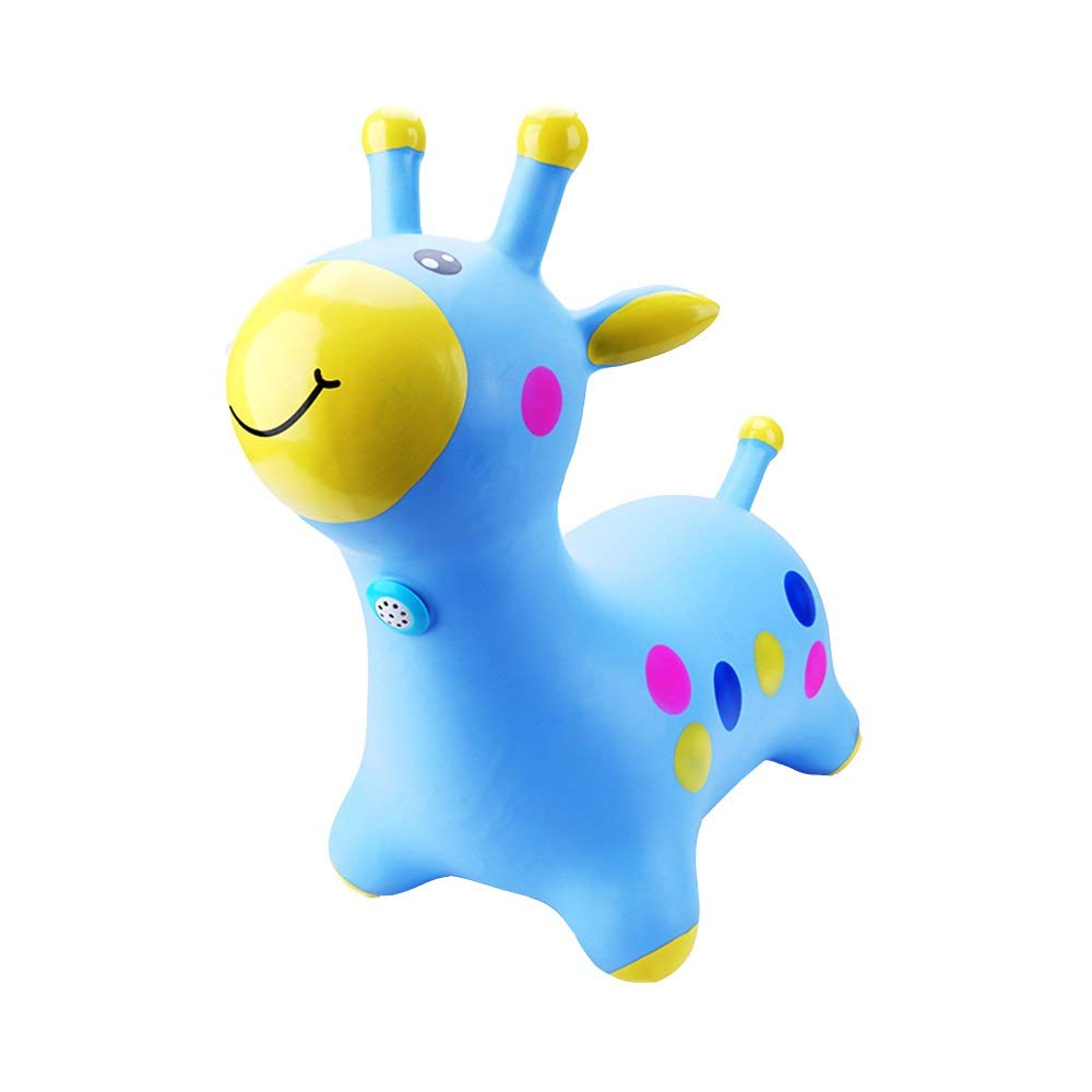 Xyanzi kids toys Toys Bouncy Horse Hopper Blue Horse Hopper Pump Included for Toddlers and Kids, Three Colors (Color : Blue)