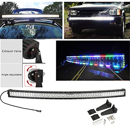 Curved 240w 42inch multi color led light bar with chaser rgb halo digo curved 240w 42inch multi color led light bar with chaser rgb halo flashing modes and many mozeypictures Image collections