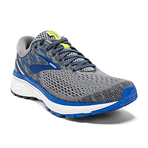 Brooks Mens Ghost 11 Running Shoe - Grey/Blue/Silver - D - 10.0