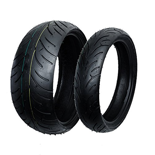 - Max Motosports Front and Rear Moto Tires Set 190/50-17 & 120/70-17
