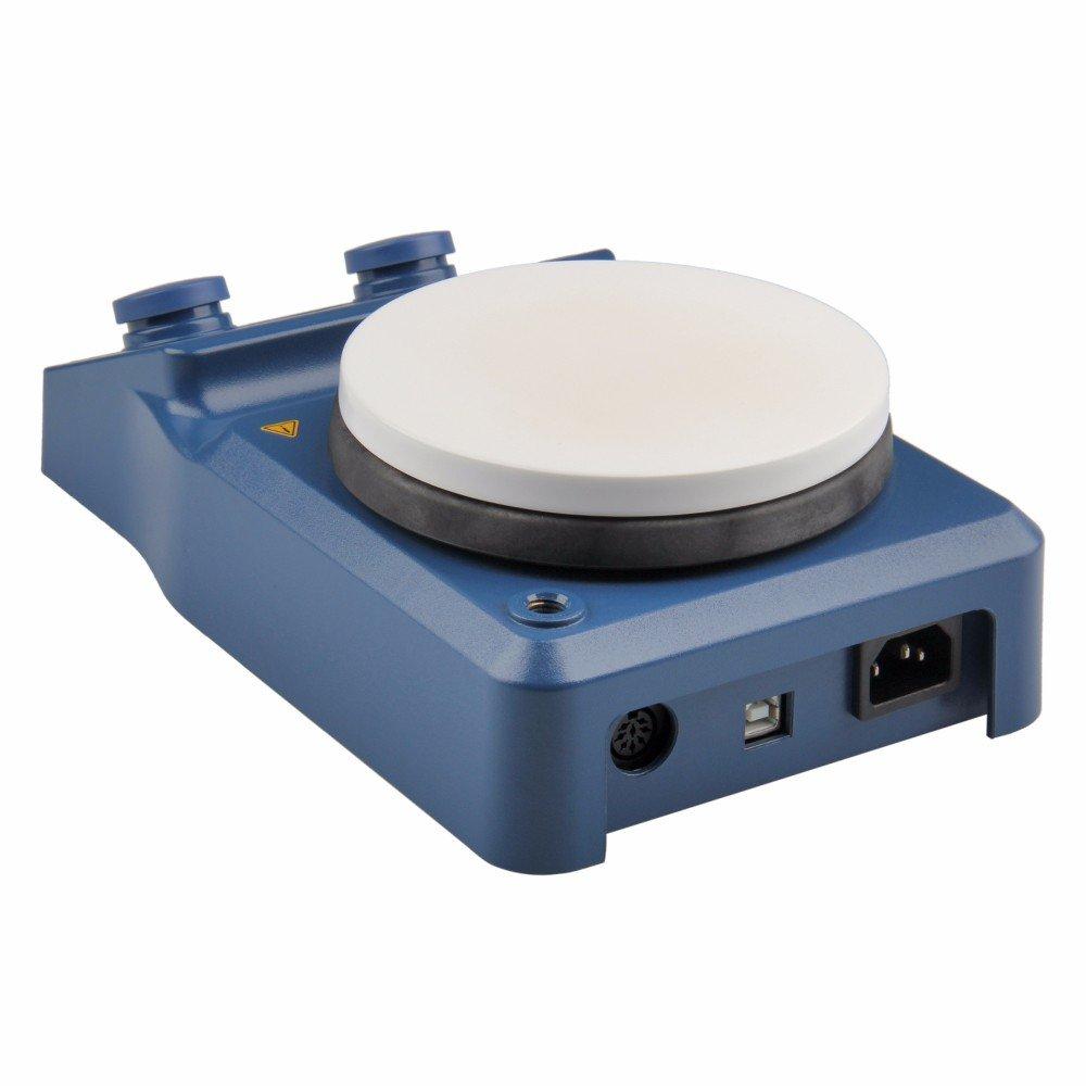 5 Inch Hot Plate Magnetic Stirrer, Ceramic Coated Plate, 50-1500 RPM, RT-280°C, 110 V, LED Digital Display
