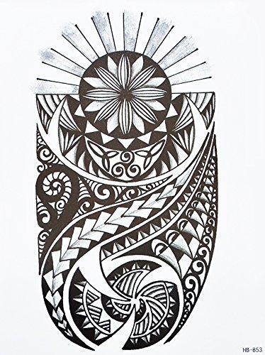 Tatuaje Tribal Para Brazo De Hombre Negro Hb853 Estilo Maorí