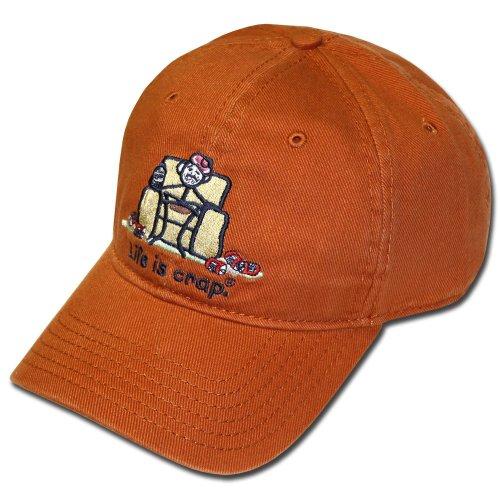 Life Is Crap Hat w/ Pocket : Orange Hangover ()