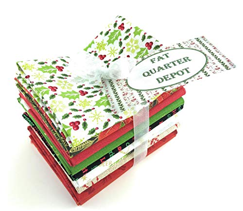 Christmas Fat Quarter Bundle - Assorted Christmas Fat Quarters 10 Pieces