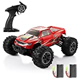 Helifar RC Monster Trucks- 1/16 4WD -High Speed Racing Vehicle 36km/Hoff-Road Waterproof/Shockproof/Anti-Skid -2.4G Radio Control Cars -for Kids and Adults Gifts (Red)