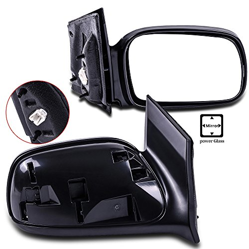 cciyu Black Left and Right Side View Mirror Power Adjustment Non-Heated Non-Folding Fits for 2006 2007 2008 2009 2010 2011 Honda Civic DX EX LX Si