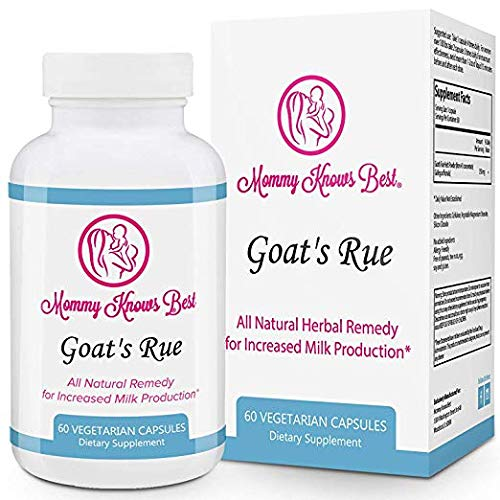 Goat's Rue Lactation Aid Support Supplement for Breastfeeding Mothers - 60 Vegetarian Capsules - Breast Milk Supply Increase for Nursing Moms ()