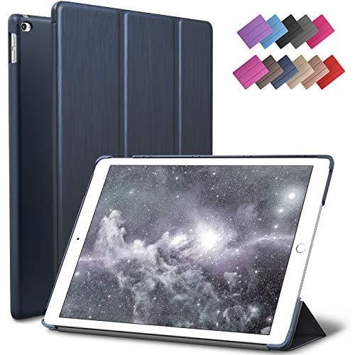 iPad Mini 4 case, ROARTZ Metallic Navy Blue Slim Fit Smart Rubber Coated Folio Case Hard Cover Light-Weight Auto Wake/Sleep for Apple iPad Mini 4th Generation Model A1538/A1550 Retina Display