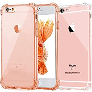 """2Pack Impact Resistant clear Cover iPhone 6 6s Card Case,ibarbe Protective Shell Shockproof Heavy Duty TPU Bumper Case Anti-scratches EXTREME Protection Cover Heavy Duty Case for iPhone 6 6S 4.7"""""""