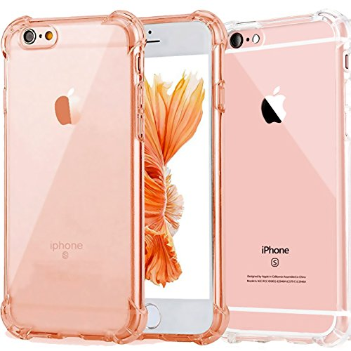 2Pack Impact Resistant clear Cover iPhone 6 6s Card Case,ibarbe Protective Shell Shockproof Heavy Duty TPU Bumper Case Anti-scratches EXTREME Protection Cover Heavy Duty Case for iPhone 6 6S 4.7