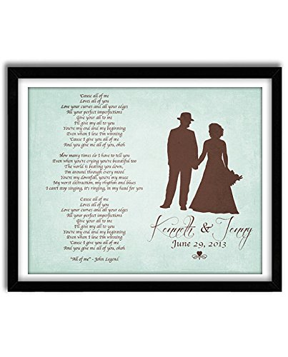 Amazon custom first dance song with lyrics personalized custom first dance song with lyrics personalized anniversary wedding gift wedding vows first stopboris Images