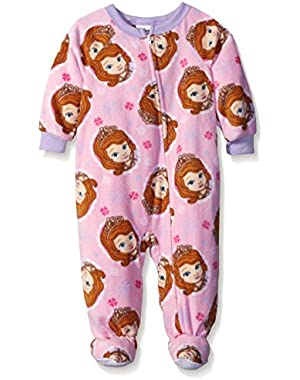 Baby Girls' Sofia The First Snow Royal Footed Blanket Sleeper