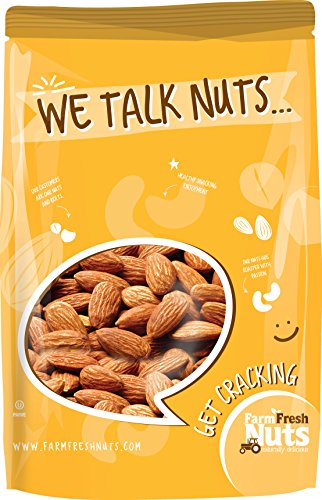 Farm Fresh Nuts ALMONDS Dry Roasted Unsalted Nonpareil Supreme Almonds (2 LB)
