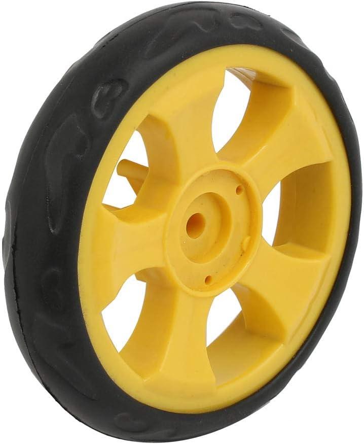 sourcingmap 105mm diam/ètre roue simple en plastique rouleau roulement poulie poussette 2pcs